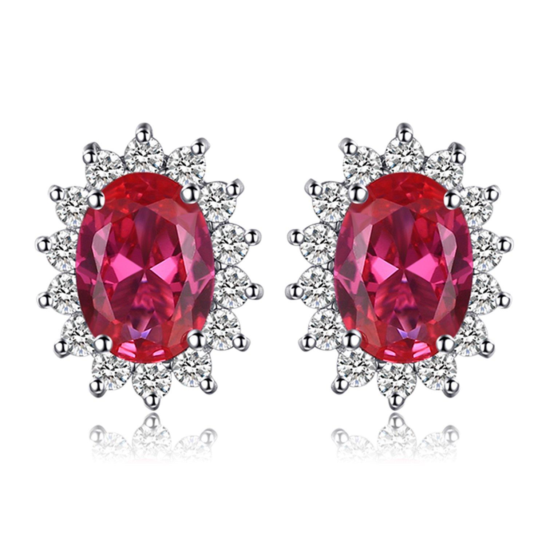 JewelryPalace 1.5ct Magnifique Diana Princesse Kate Middleton Boucles d'Oreilles Femme Clous et Puces en Argent Sterling 925 EU-08166SCE