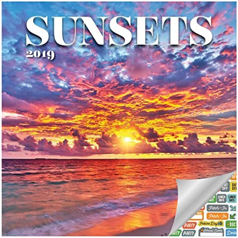 2019 Sunset Calendar Amazon.: Sunset Calendar 2019 Set   Deluxe 2019 Sunsets Wall