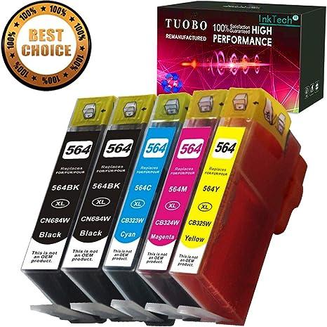 Amazon.com: tuobo 5 Pack HP 564 X L cartucho de tinta ...