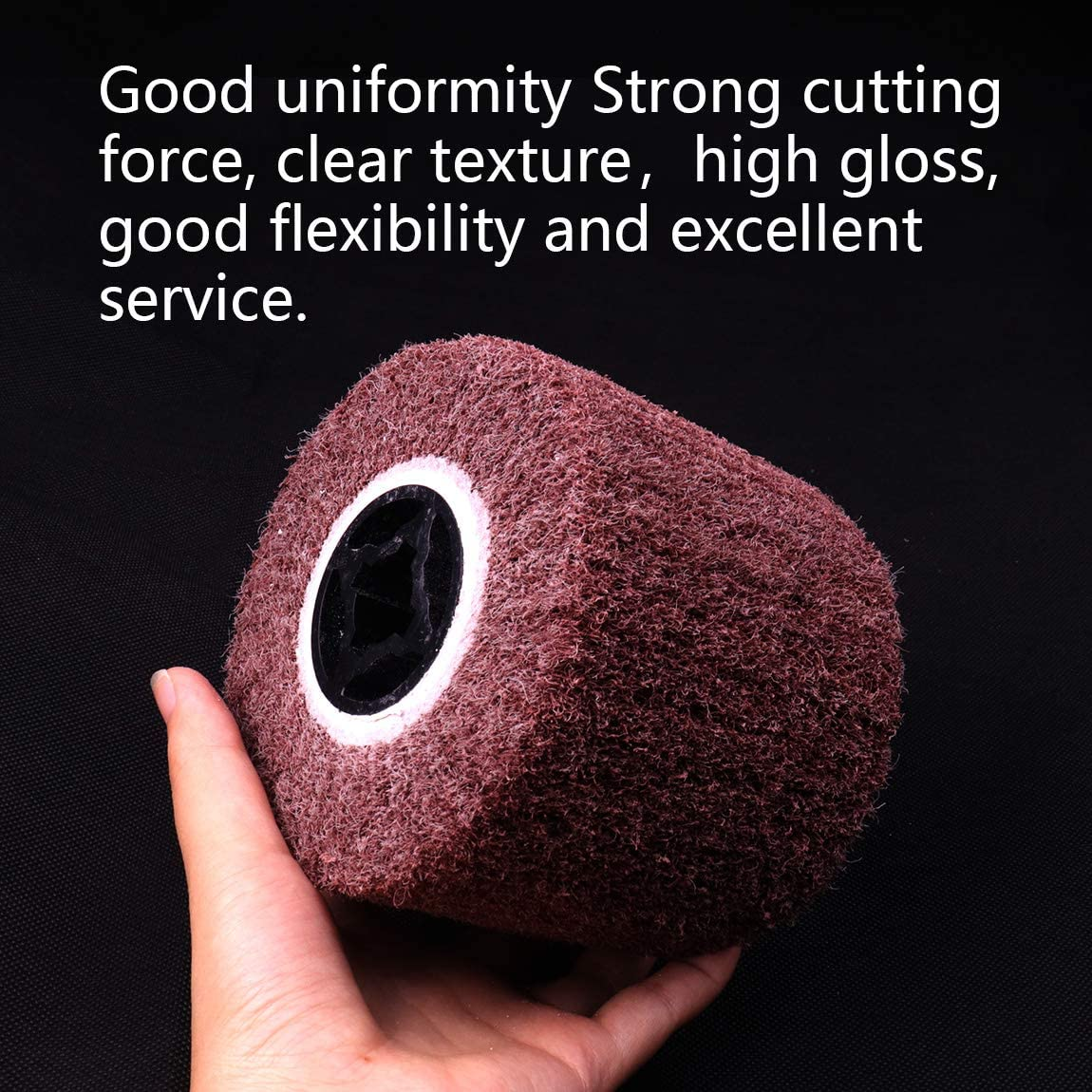 ATOPLEE 120mmx100mm 120 Grit Non-Woven Abrasive Polishing Flap Wheel for Wire Drawing Metal Iron Aluminum Polishing