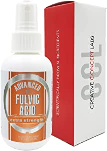 Advanced Fulvic Acid and Humic Acid Trace Mineral Supplement. Convenient Spray Bottle. Best Source of Trace Minerals - Similar Benefits of Shilajit (4 oz)