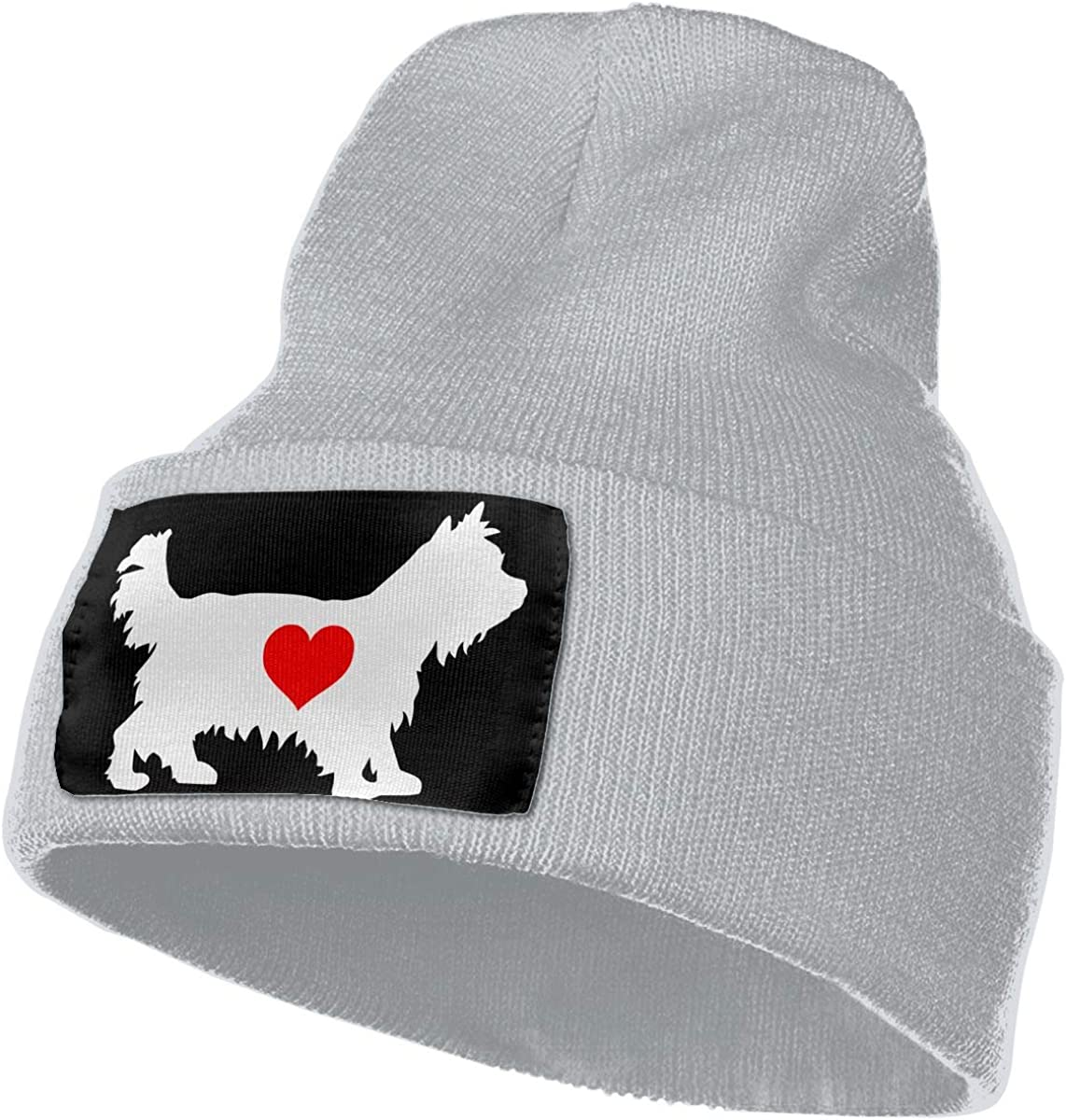 MXMAOM9MX Yorkshire Terrier with Heart-1 Warm Knitting Hat Mens Womens 100/% Acrylic Beanie Hat