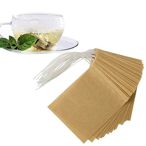 Amazon.com: anphsin 300 pcs té bolsas de filtro, desechables ...