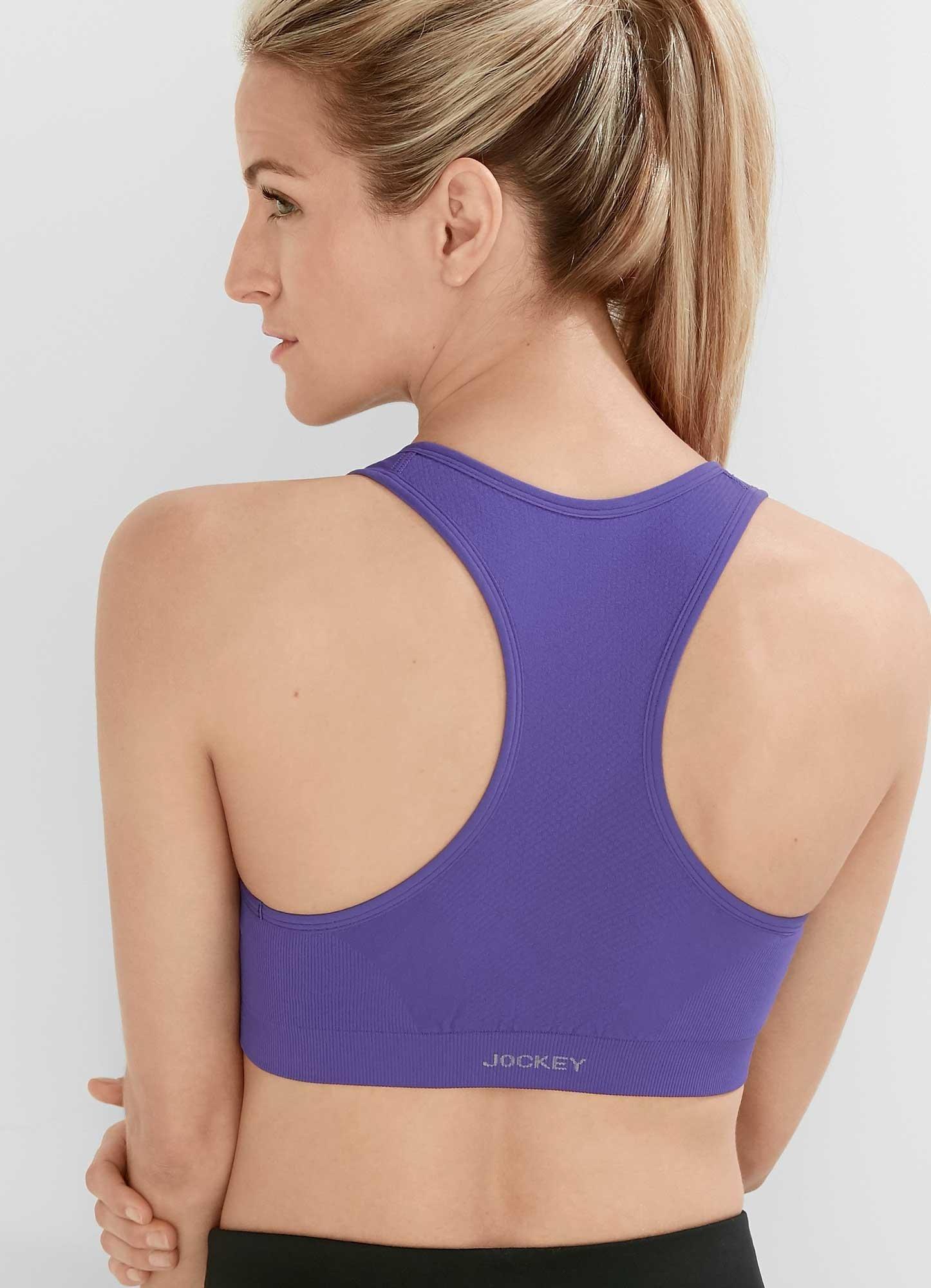 Jockey Women's Zip Front Seam Free Bra, Purple Afterglow, Small by Jockey (Image #5)