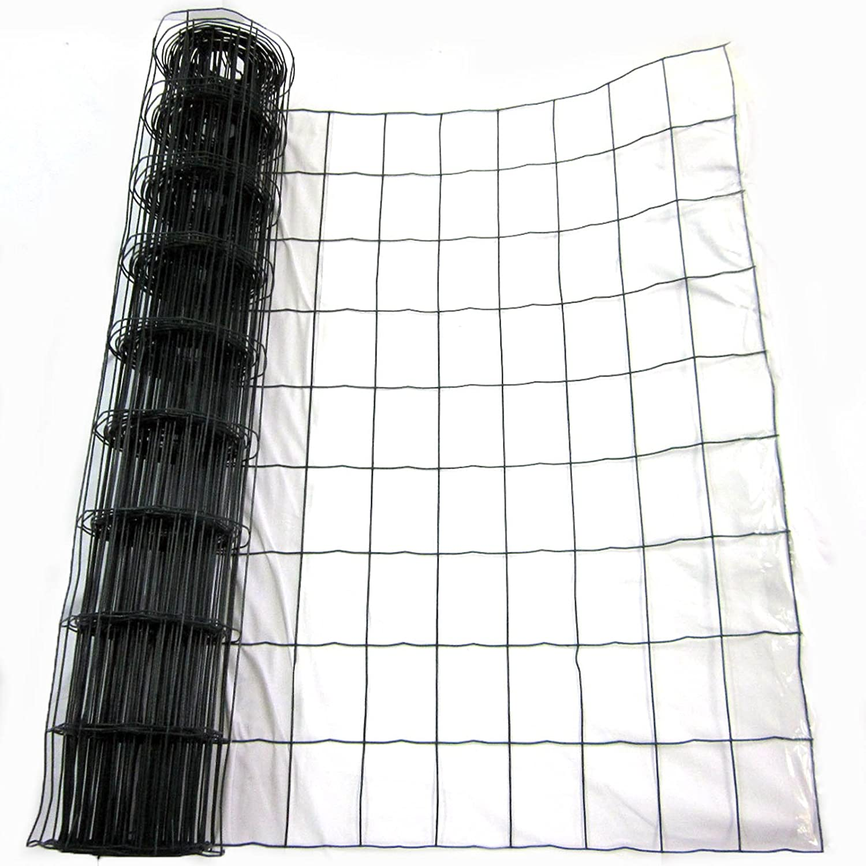 Easipet Green PVC Coated Steel Wire Mesh Fencing 90cm Garden ...