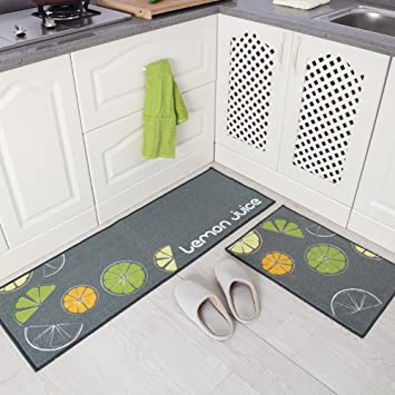 Indeedshare Kitchen Rugs Rubber Backing Decorative Non Slip Doormat