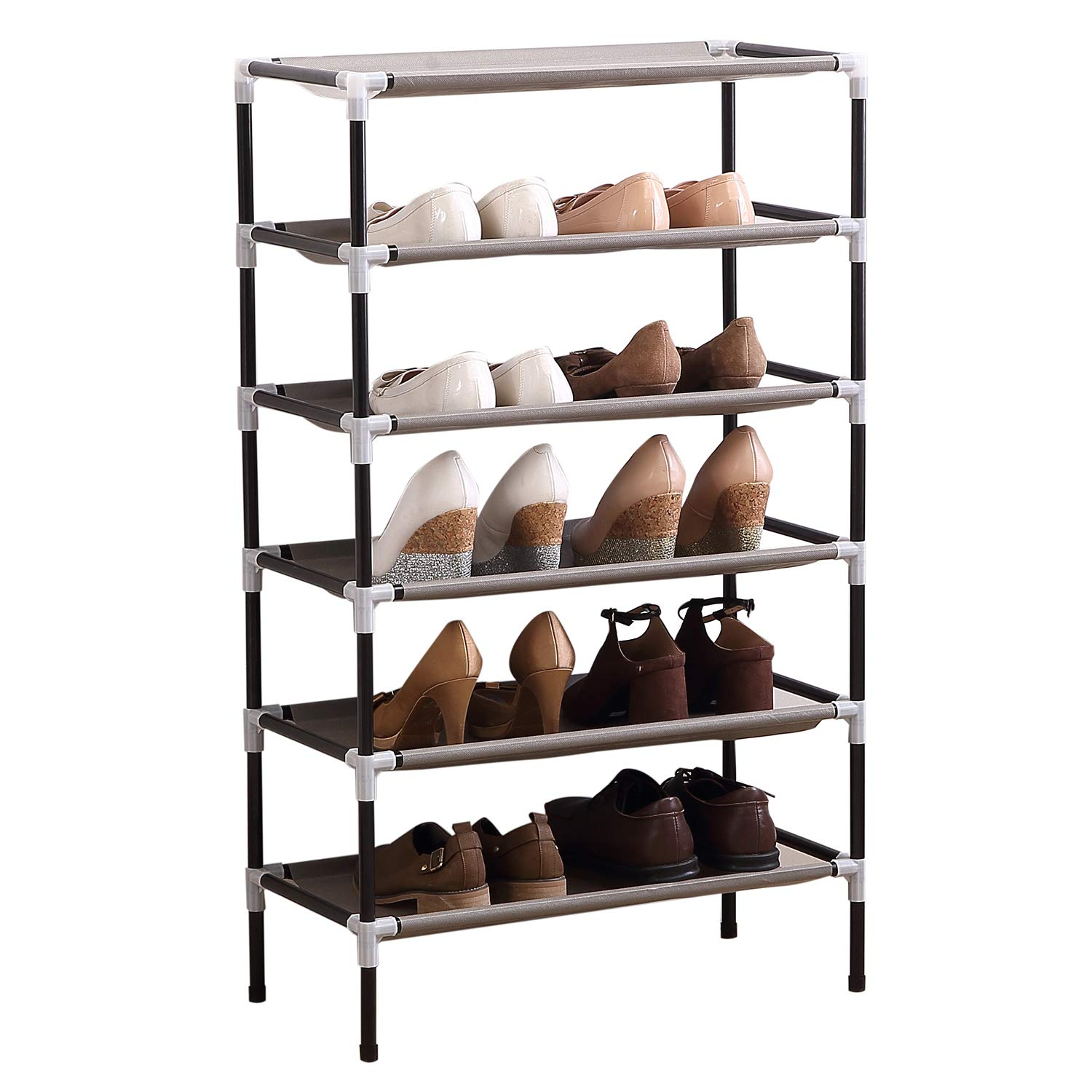 4 Tiers Shoe Storage Rack Organiser Shelf Hold Stand for 12 Pairs Shoes