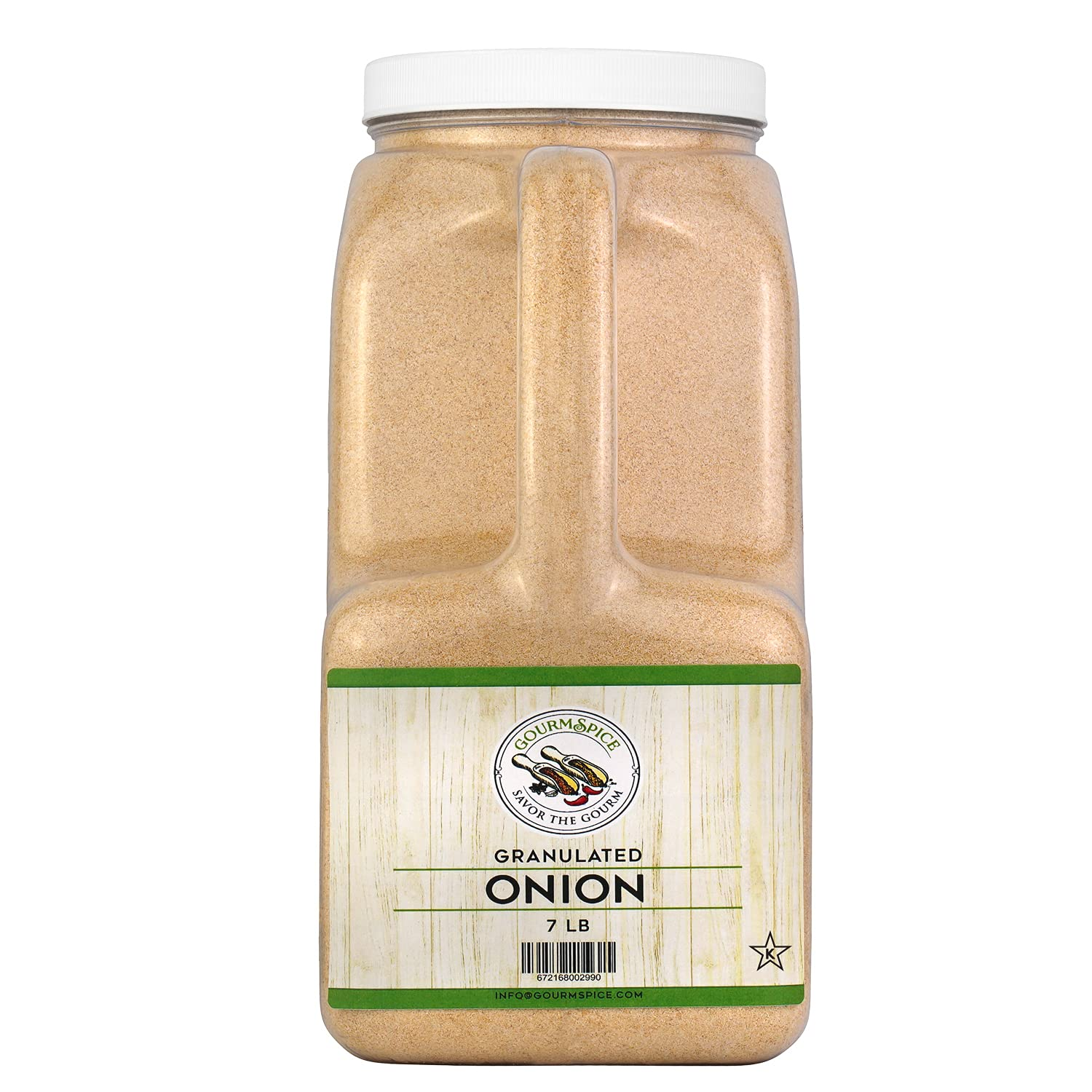 Gourmspice Quality Granulated Onion | High Grade Fresh Taste | Kosher Chef Spices and seasoning (Granulated Onion 7lb, Chef's Size)