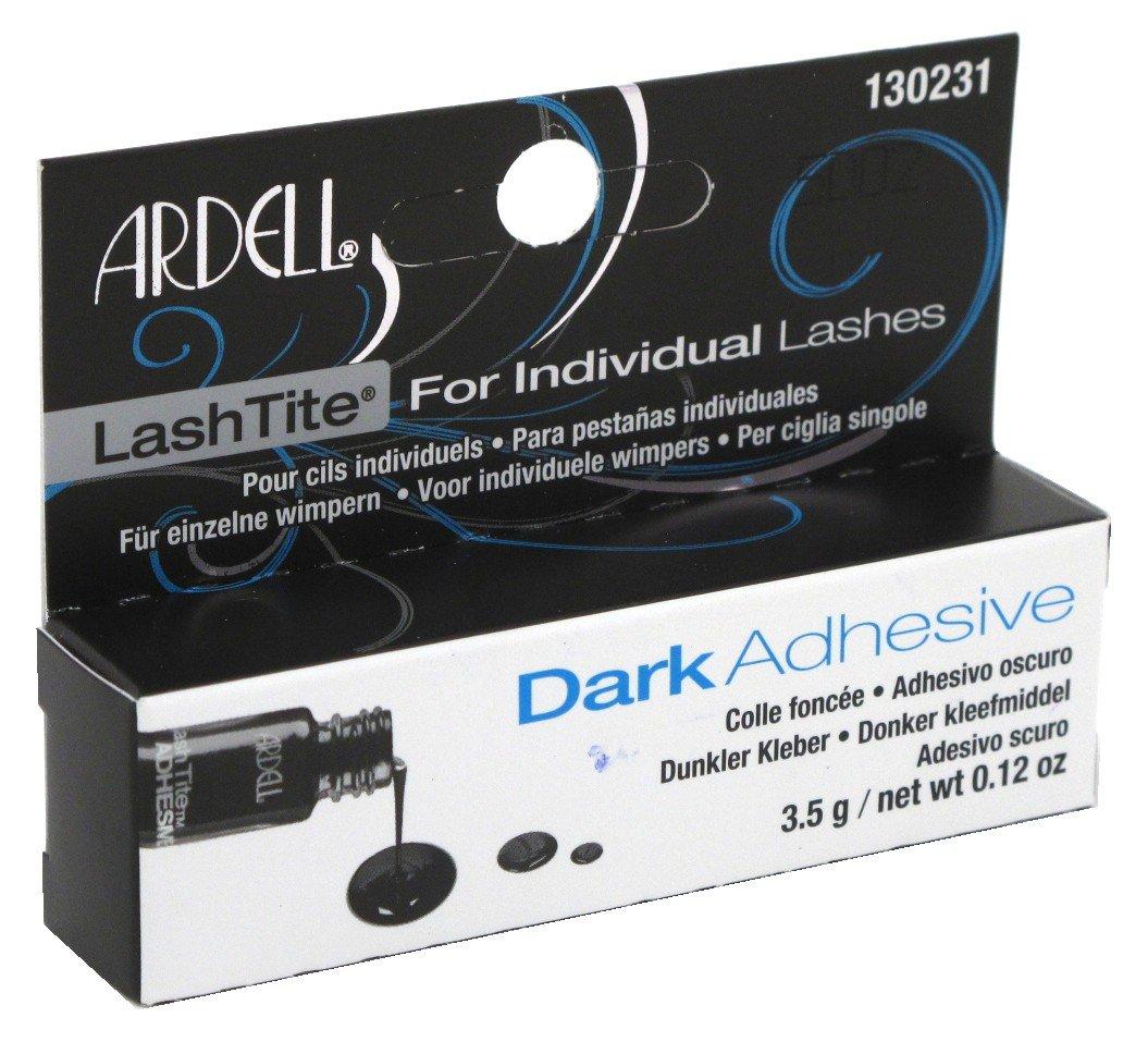 Ardell Lashtite Adhesive Dark 0.125 Ounce Bottle (Black Package) (3.7ml) (3 Pack)