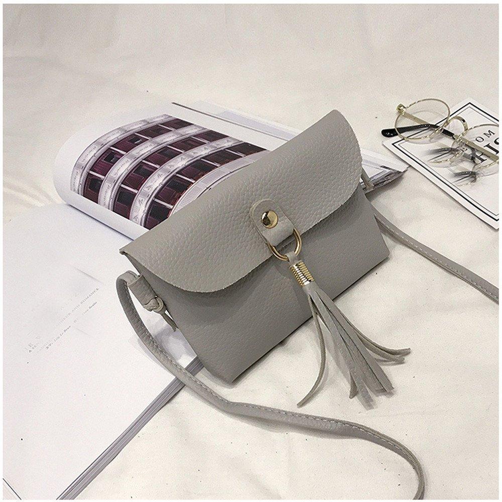 ddf82f46dc8b Amazon.com: Snowfoller Fashion Tassel Shoulder Bags - Vintage Small ...