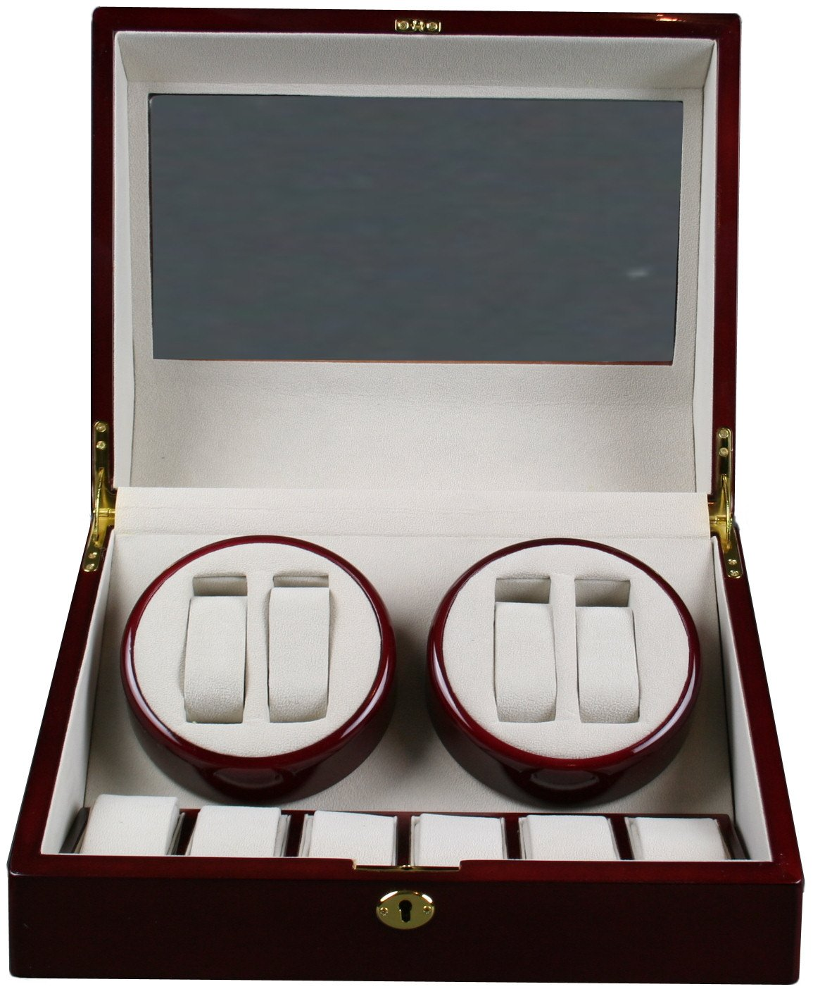 Top Quality Quad Watch Winder 4+6 Storage Box Case by Kendal (Image #2)