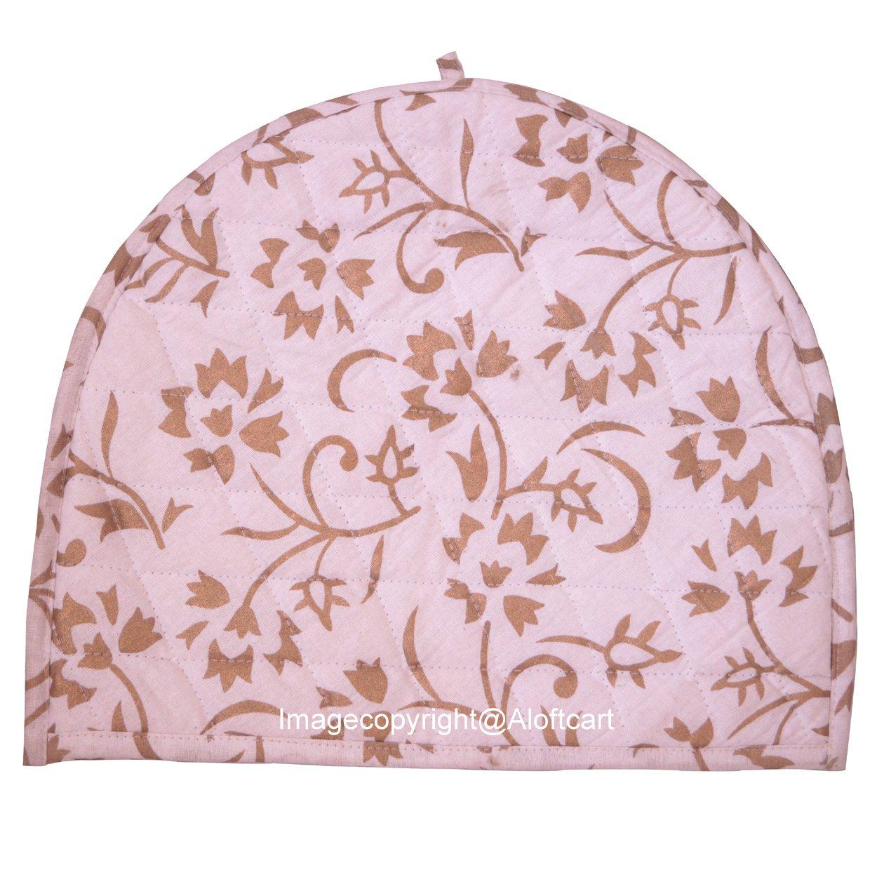 Aunercart Handmade Cotton Mandala Golden Ombre Tea Cosy Indian Mandala Tea Cozies Tea Pot Cover Tea Cozy