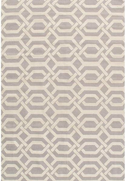 Pasargad Sahara Collection Decorative Handmade Wool Flat Weave Area Rug – Beige Ivory 6×9