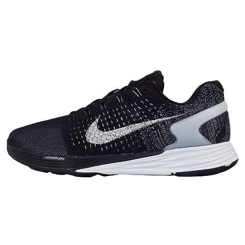 Nike Womens Wmns Lunarglide 7 Flash, BLACK/REFLECT SILVER-PR PLTNM-DARK