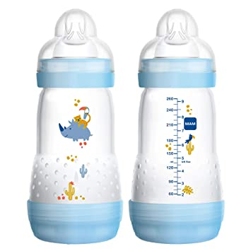 Girl 9 Ounc MAM Baby Bottles for Breastfed Babies MAM Baby Bottles Anti Colic