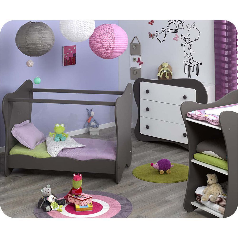 Mini Babyzimmer Iris weiß taupe