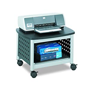Safco Products Scoot Underdesk Printer Stand 1855BL, Black, Powder Coat Finish, Swivel Wheels for Mobility