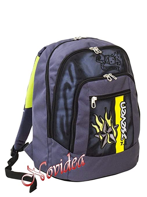 2ff30f12aa ZAINO SCUOLA SEVEN NEW ADVANCED COLOR BOY NERO ERGONOMICO RIFRANGENTE