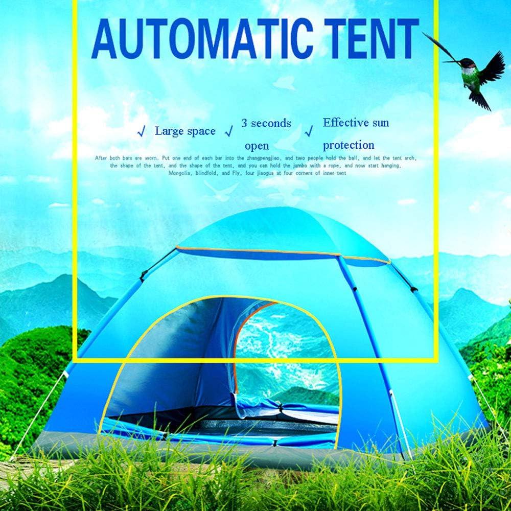 Bewinch Tienda De Campaña Familiar,Al Aire Libre 3-4 Personas Tienda De Campaña Automática Playa Camping Simple Velocidad Abierta Multi-Persona Tienda De Campaña De Lluvia Gray