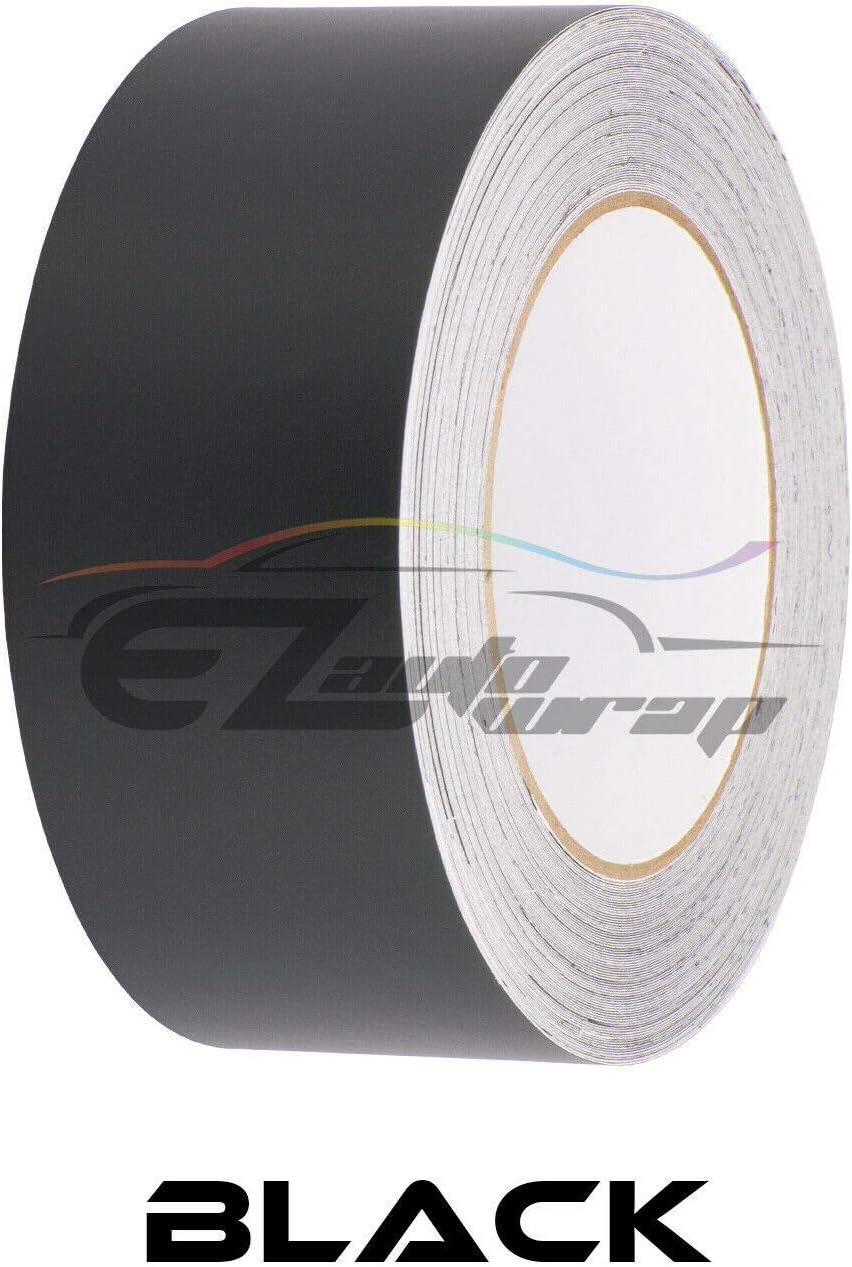 EZAUTOWRAP Free Tool Kit 10 Wide 20FT Long Matte White Racing Stripes Vinyl Wrap Rally Decals Stripe Sticker