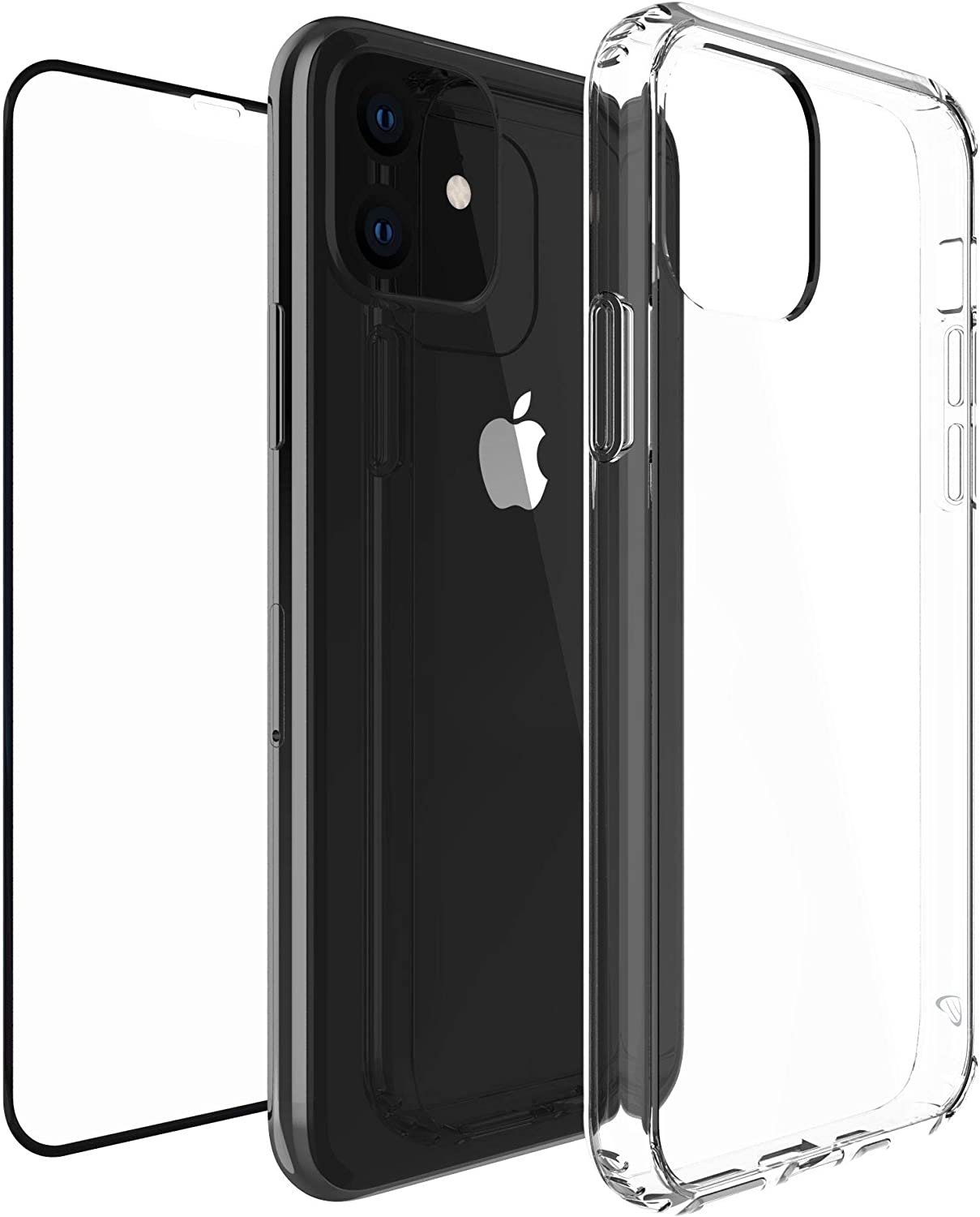 Luvvitt Clear View Case Designed for iPhone 11 + Tempered Glass Screen Protector for Apple iPhone 11 XI 6.1