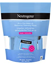 Neutrogena Makeup Remover Wipes, Single All in One Cleansing Towelettes, Individually Wrapped, 20 Count