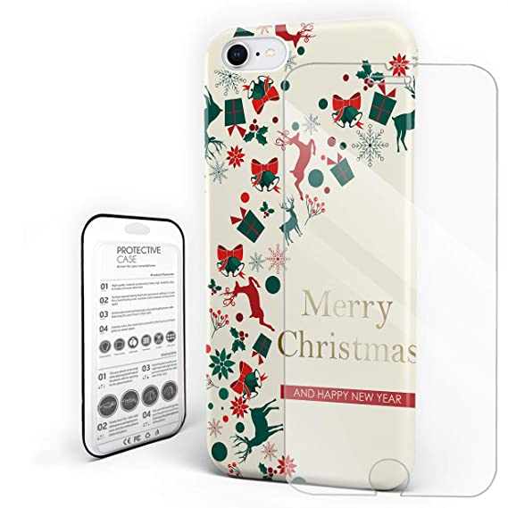 ultra hybrid designed for apple iphone case merry christmas season eve new year decorative decor