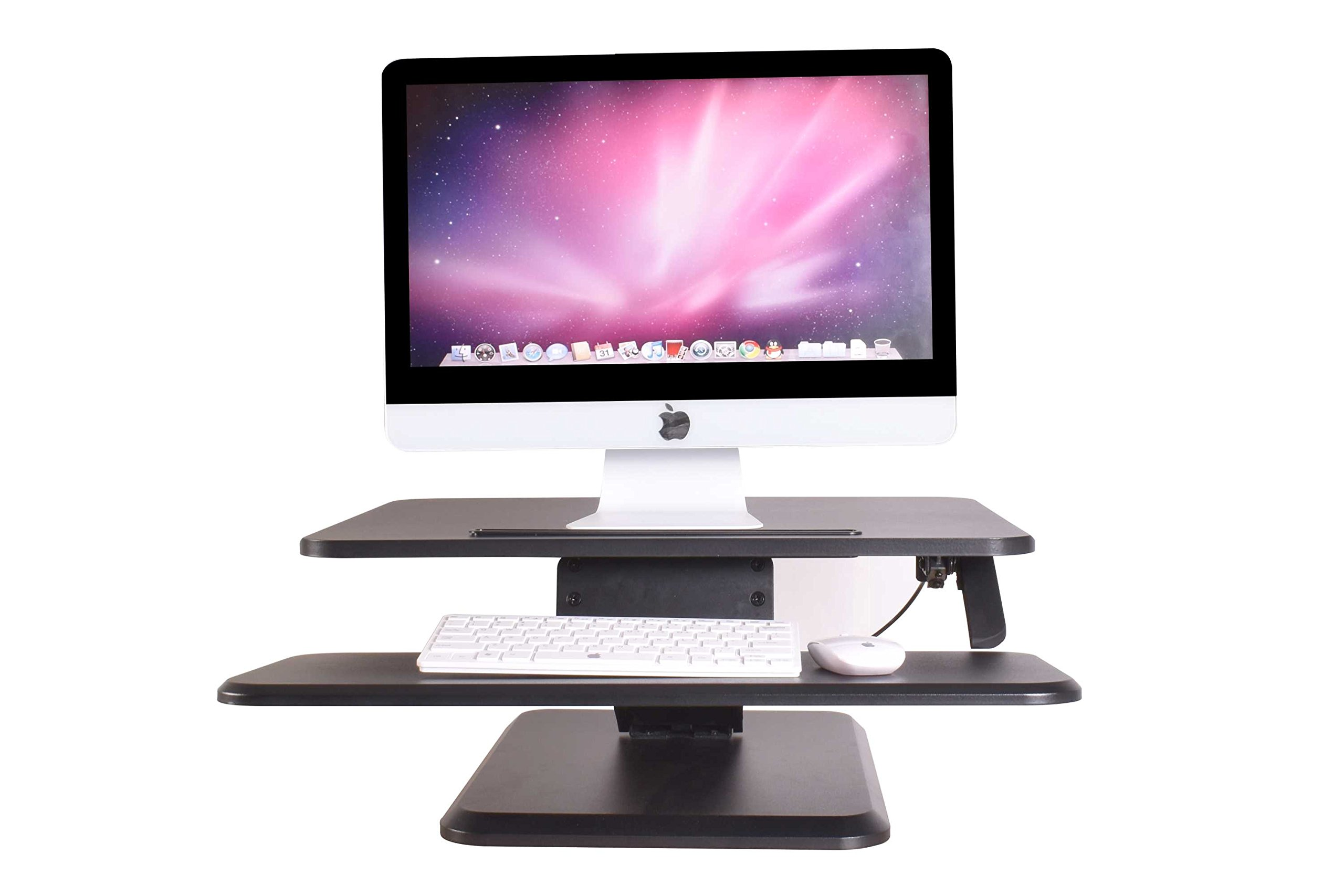 Zeal Desk Standing Desk ECO 25 Sit to Stand up Adjustable Desk Workstation Gas Spring Riser Converter for Desktop Laptop Dual Monitor ZD-SD05 (Black)