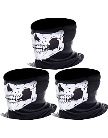 b1ff6d1c389 eBoot 3 Pack Seamless Skull Face Tube Mask Motorcycle Face Mask (White)