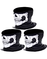 eBoot 3 Pièces Sans Couture Masque Crâne Moto Squelette Masque