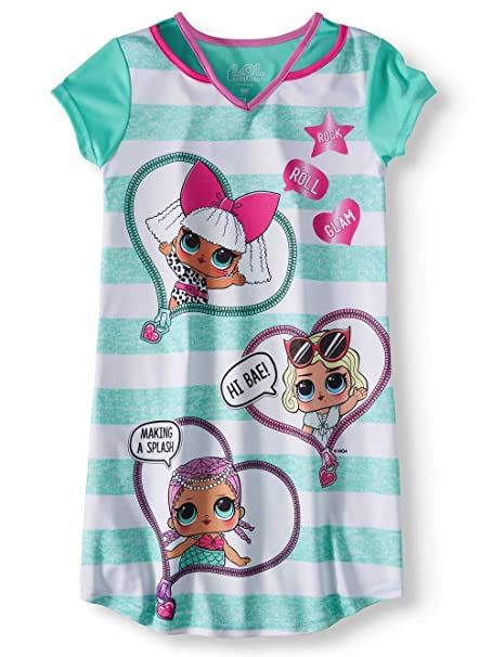 Amazon.com: L.O.L. Surprise! Nightgown Pajama Dress - Split ...