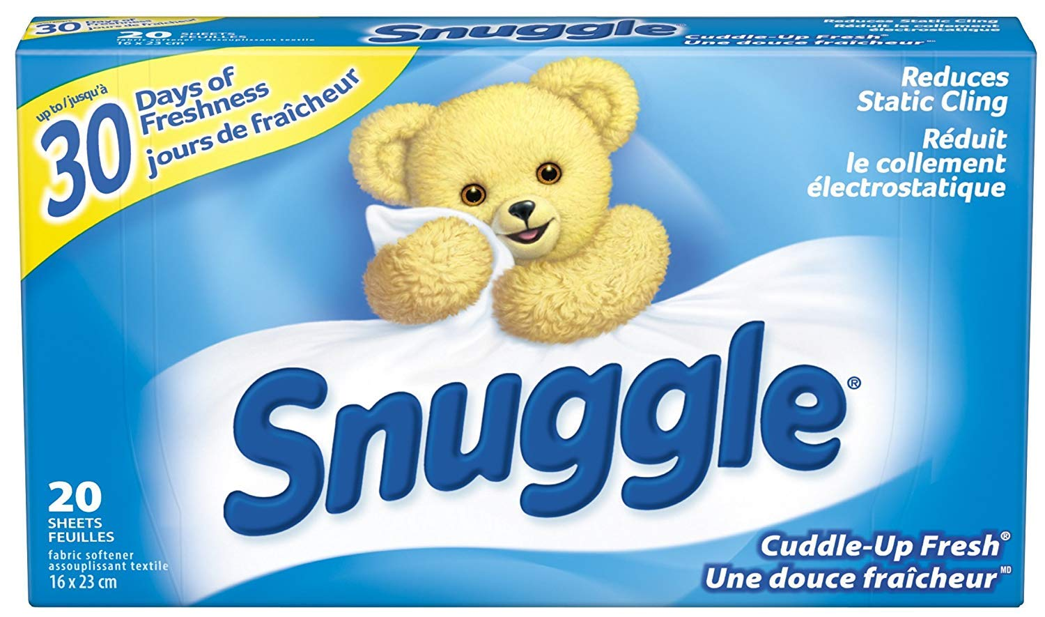 Snuggle Fabric Softner Dryer Sheets, Cuddle Up Fresh Scent, Reduces Static Cling - 480 Count by Snuggle (Image #1)