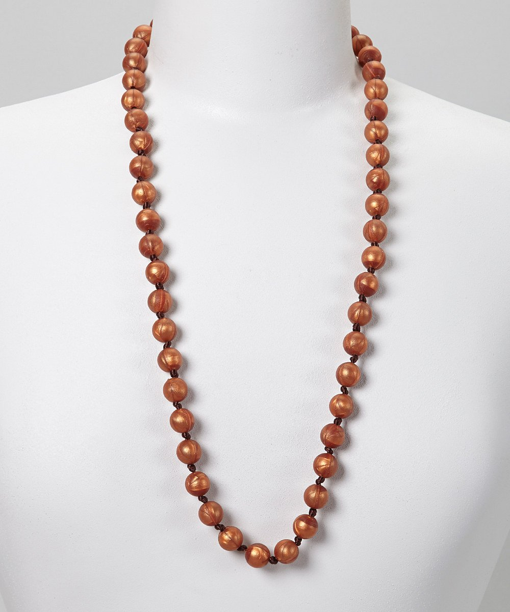 GUMEEZ PEARL TEETHING NECKLACE - COPPER PEARL