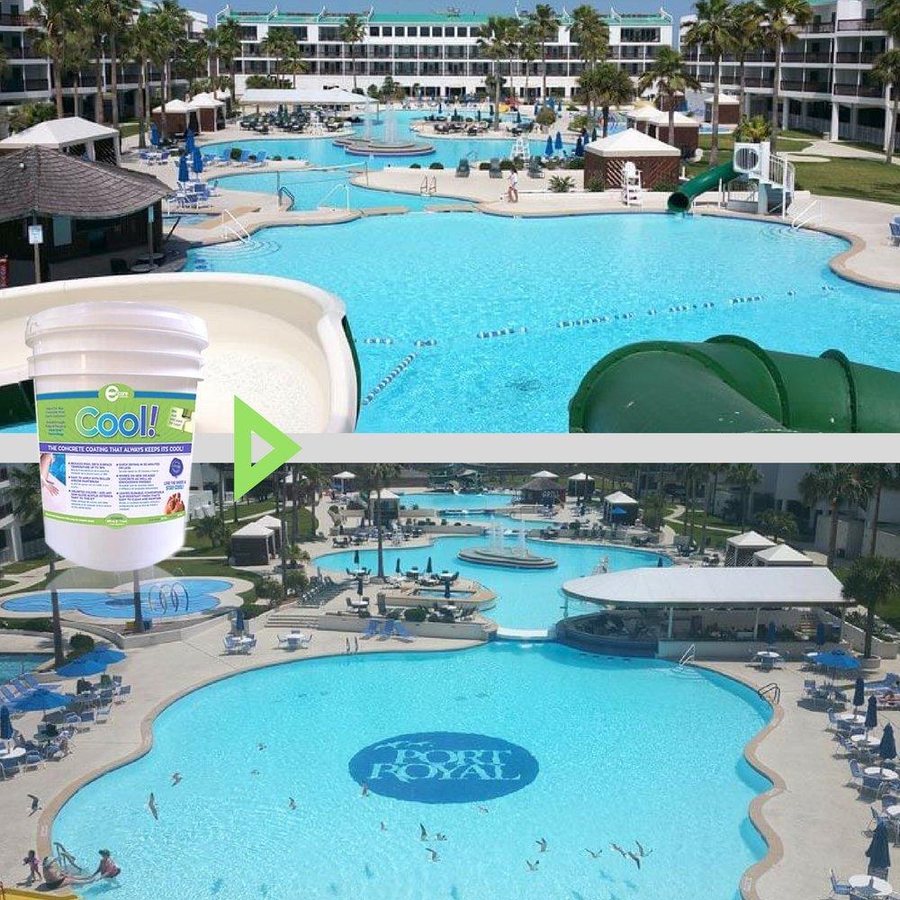 stor hårdplast pool