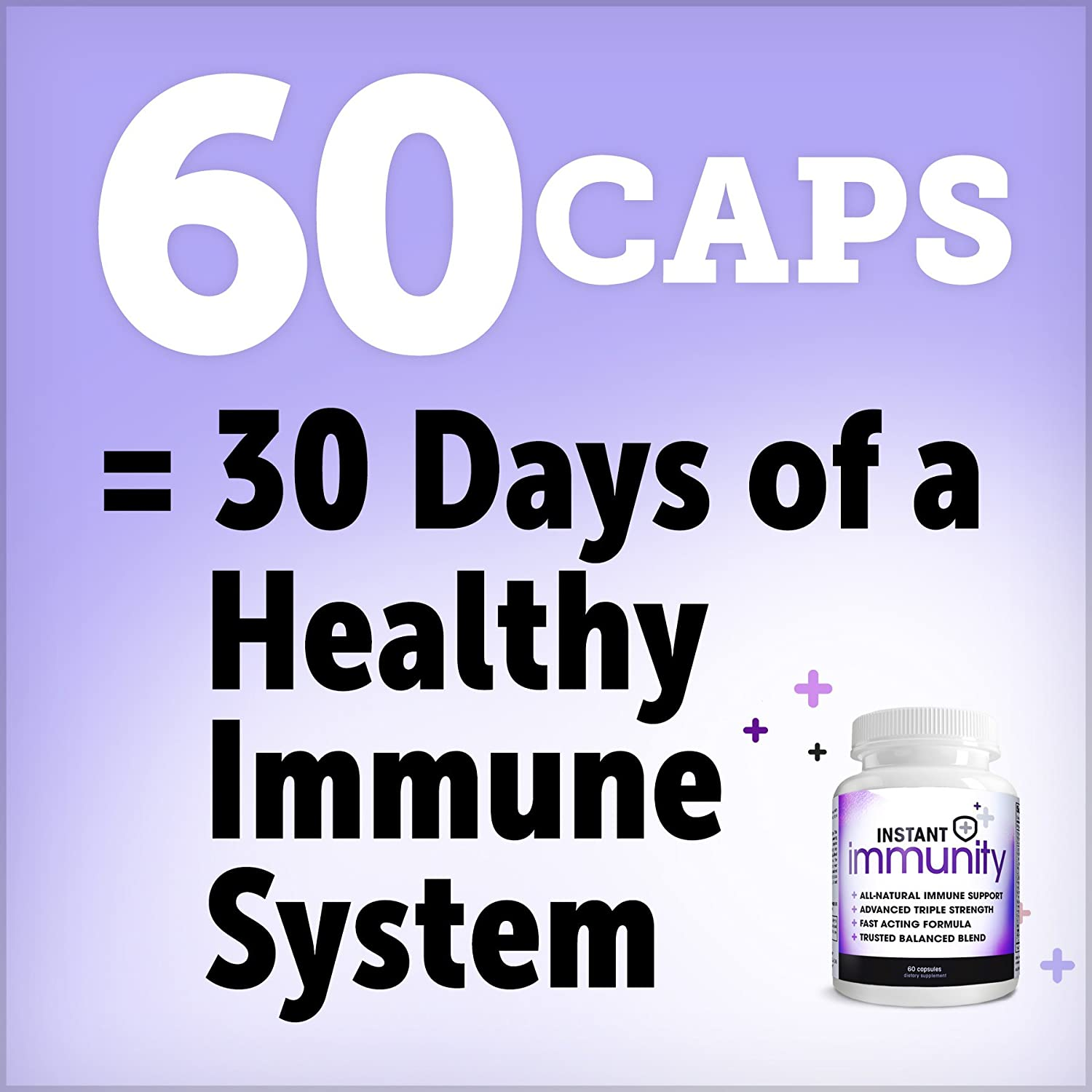 Instant Immunity, Immune Support Formula, Maximum Strength, 60 Capsules