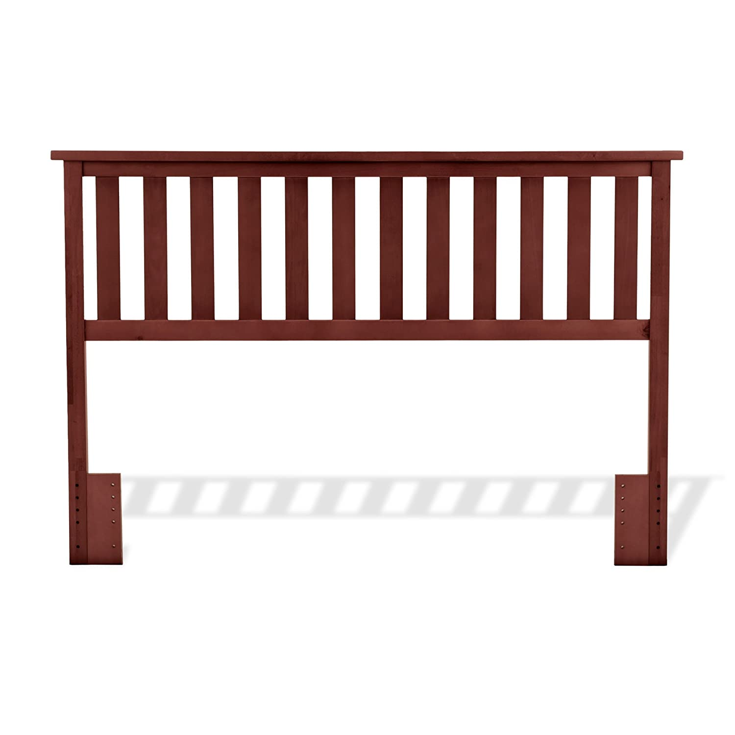 Belmont Wooden Headboard Panel with Slatted Grill Design, Maple Finish, Full / Queen 51L529