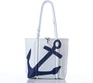 product image for Sea Bags Recycled Sail Cloth Navy Anchor Handbag