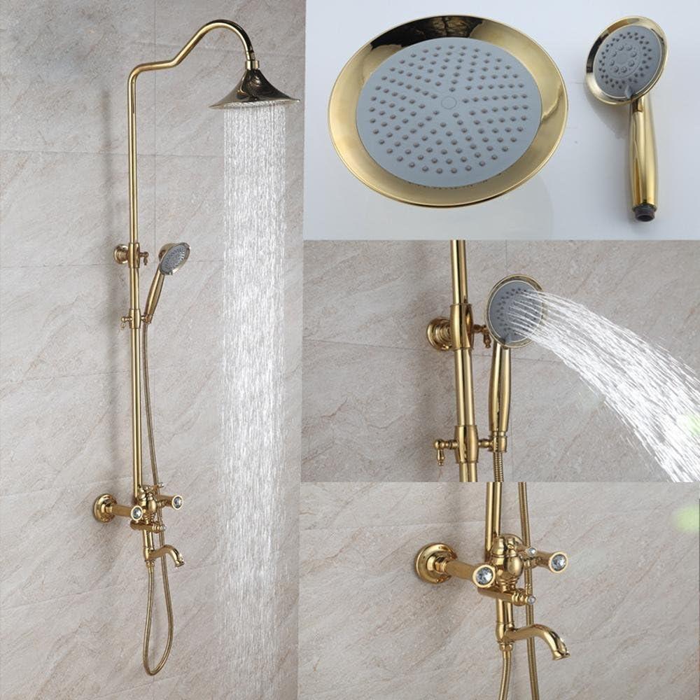 Diamantes de Titanio cobre derramando vestido dorado Booster baño ...