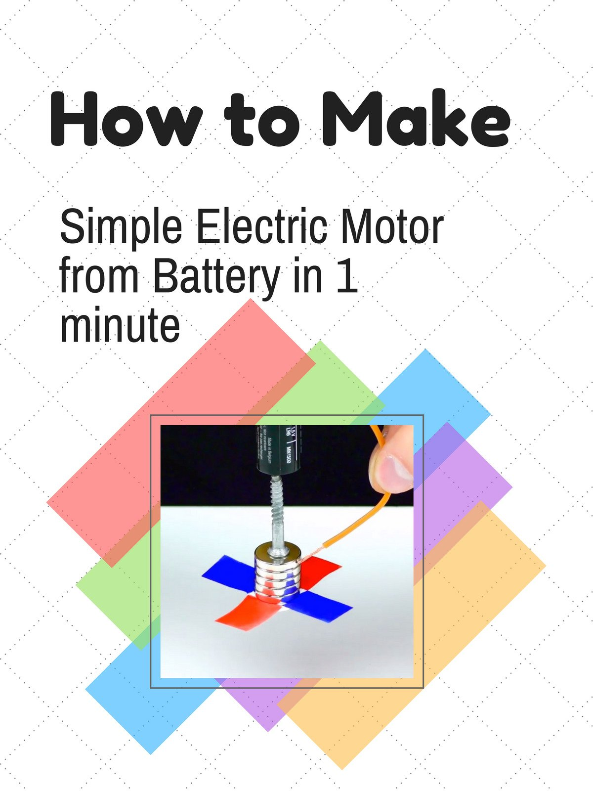 amazon com: watch how to make simple electric motor from battery in 1  minute | prime video