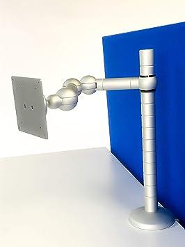 R-Go Tools R-Go E-Motion Brazo de Monitor, Ajustable, Plateado: Amazon.es: Electrónica