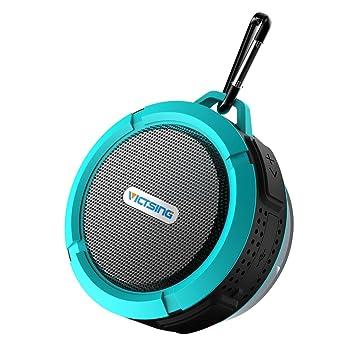 VicTsing Bluetooth Shower Speaker, Mini Portable Waterproof Bluetooth  Speaker Hands Free Speakerphone ( With