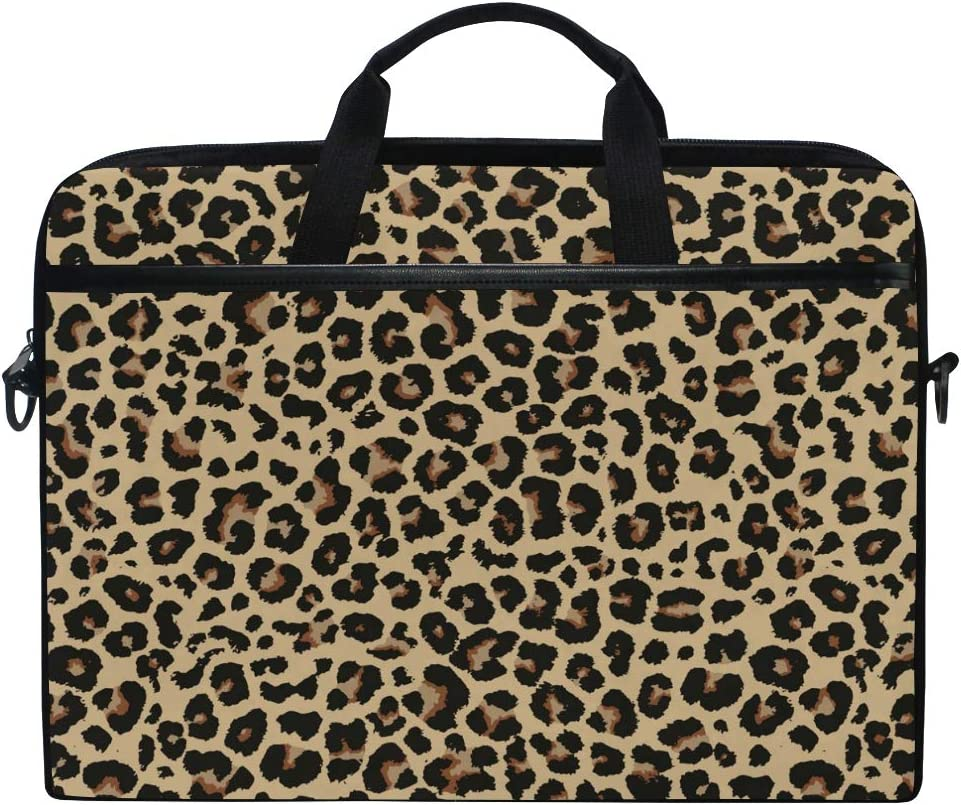 ALAZA Cheetah Leopard Print Animal Skin Laptop Case Bag Sleeve Portable Crossbody Messenger Briefcase Convertible w/Strap Pocket for MacBook Air Pro Surface Dell ASUS hp Lenovo 14-15.4 inch