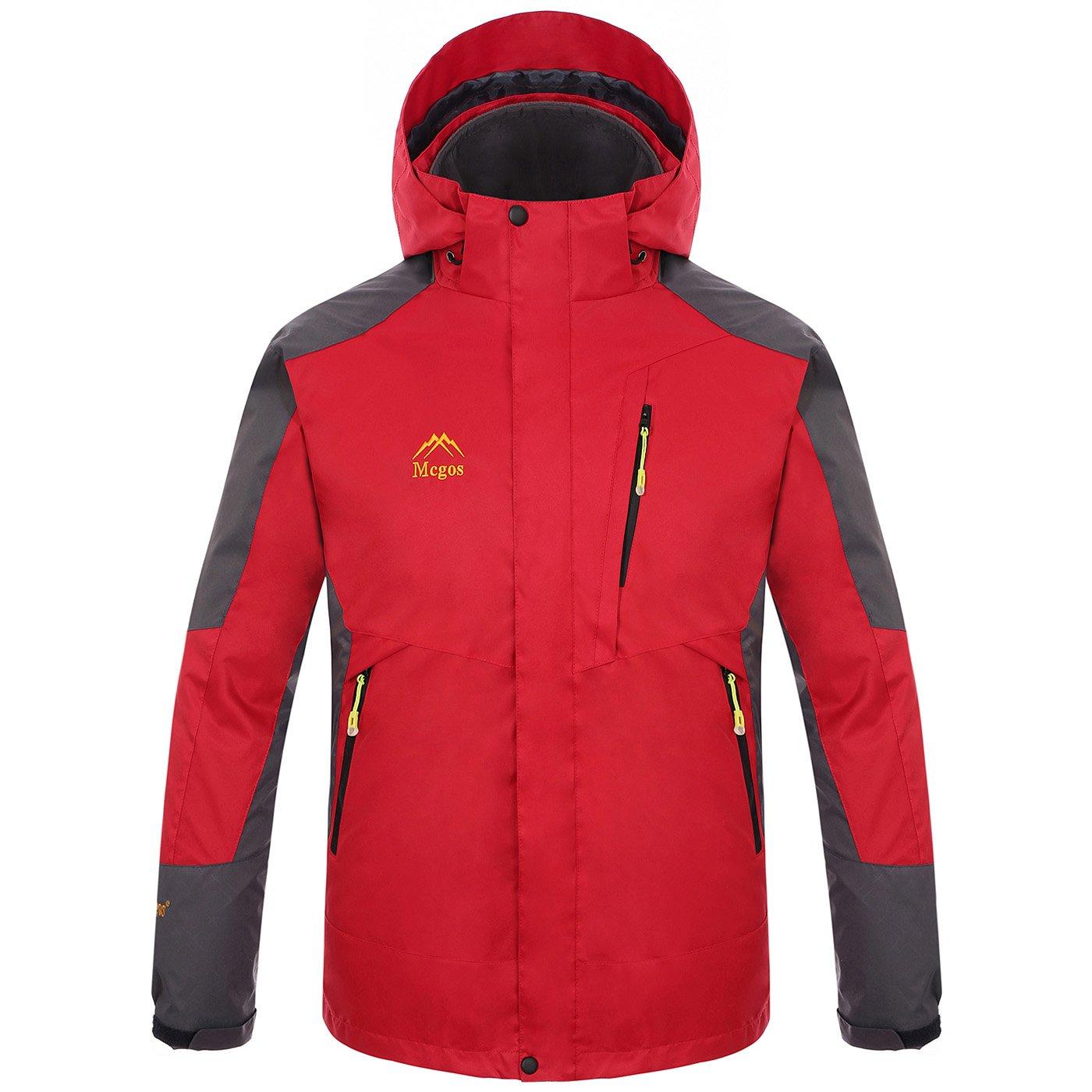 Mcgos Men's 3in1 Fleece Liner Windbreaker Waterproof Functional Outdoor Jacket AAC507