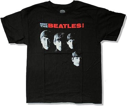 the beatles black t shirt