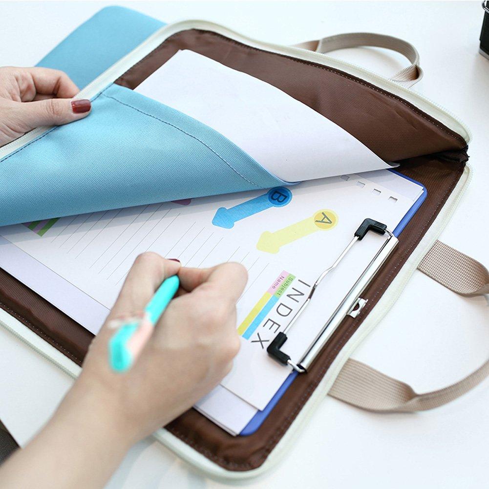 KARRESLY Waterproof A4 Document Organizer Bag Tote Holder File Folder iPad Bag for Men Women