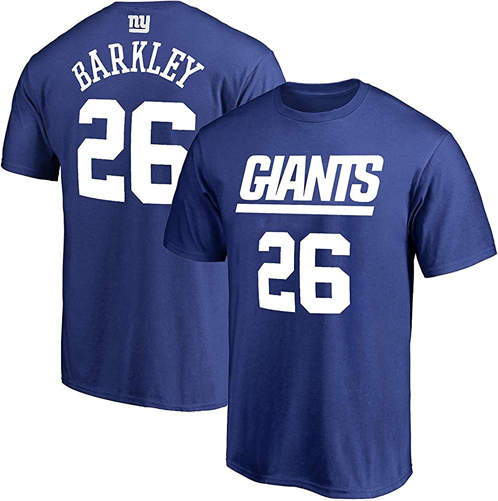 New York Giants T-Shirt JERSEY NFL Personalized Name Number Team Football