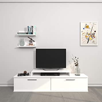 Theta design by homemania-TV, Mobile TV Orione, weiß: Amazon ...