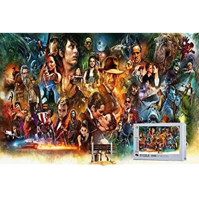 Classics Movie Poster The 80s 90s Wooden Jigsaw Puzzles-1000 Pieces Cool Puzzles for Adult: Toys & Games