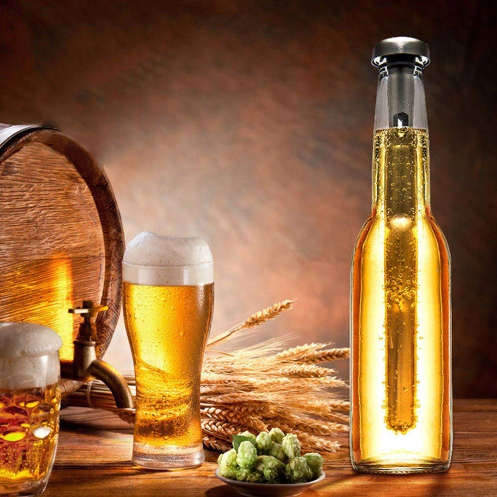 Beer Gift Ideas For Father Dad Husband Instantly Chill Your Beer /& Drinks Beer Fundamentals Beer Chiller Sticks 4 Pack For Bottles With Beer Bottle Opener Gift Set Instantly Cool Beverage Sticks