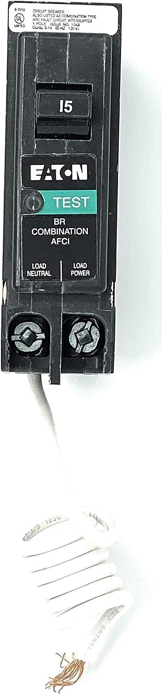 Eaton BRN115AF Combo Arc Fault Circuit Breaker, Type BR 1, 15A - Quantity 1
